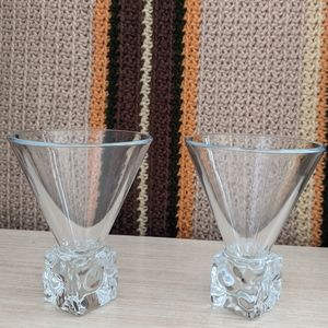 Two very elegant martini glasses